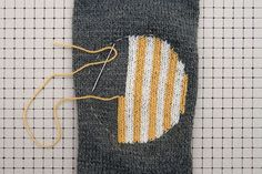 great tutorial on re-enforcing elbows in your sweaters, for repair or embellishment