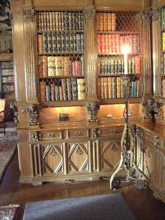 Hearst Castle Library Carved Bookcases Pretty Books