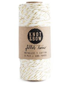 Knot & Bow The Original Glitter Twine Gold Natural
