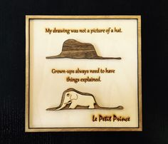 The Little Prince Wood Frame no.2 Boa / Wood by gartsdesign