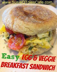 {Healthy Recipe} Easy Egg and Veggie Breakfast Sandwich