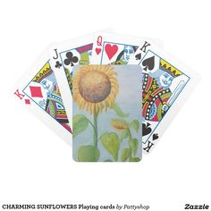 CHARMING SUNFLOWERS Playing cards
