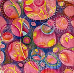 Printing with Gelli Arts®: Gelli™ Printing on Fabric: Fun with Stencils & Pencils...with Giveaway!