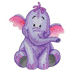 Heffalump machine embroidery design from Winnie Pooh Adventure colection