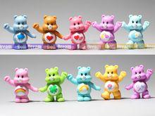 8pcs/LOT Random send 5-6cm Japanese original anime figure Care Bears set kids toys for boy girl(China (Mainland))