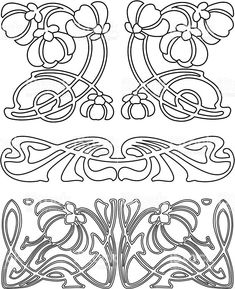 Art nouveau ornament vector design elements 24 ideas for 2020 Motifs Art Nouveau, Azulejos Art Nouveau, Design Art Nouveau, Motif Art Deco, Art Nouveau Pattern, Art Nouveau Arquitectura, Architecture Art Nouveau, Illustration Art Nouveau, Pattern Illustration