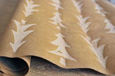 hand painted christmas wrapping paper christmas by oscarandollie
