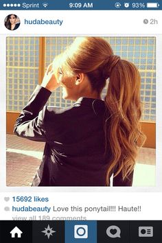 Love puffy pony tails styles