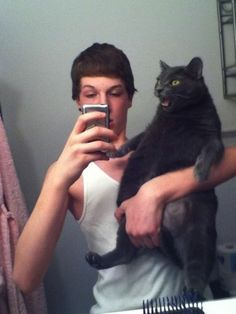 your cat is done taking #selfies with you.