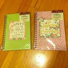Notebooks 1 for $5 /// both for $9. 100 pages each Other