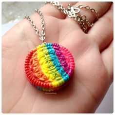 Super Cute Rainbow Oreo Cookie Necklace from momomony on Etsy. Saved to Epic Gief-list. Polymer Clay Charms, Polymer Clay Creations, Polymer Clay Jewelry, Kawaii Jewelry, Cute Jewelry, Gadgets, Clay Figurine, Cute Clay, Cute Charms