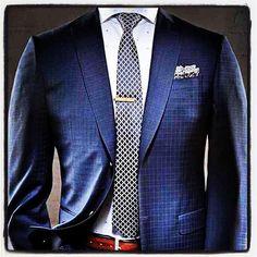 #mensfashion #atire #suitjacket #tie #tieclip #pocketsquar… | Flickr