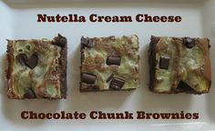 Nutella Cream Cheese Chocolate Chunk Brownies | TheEconomicalEater.com