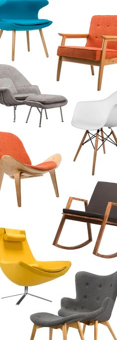 Inspired by the Modern Masters? Mid-Century Chairs Shop Now Only at Dot and Bo!