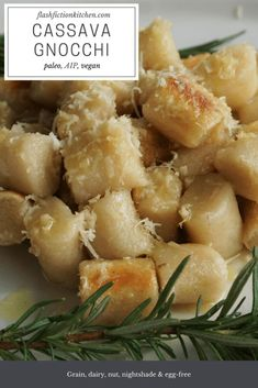Cassava Gnocchi from Flash Fiction Kitchen (paleo, AIP, vegan)