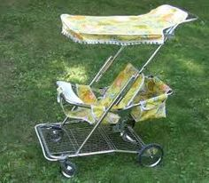 Our baby strollers looked like this . . .