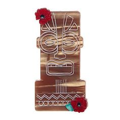 Idol Heads Tiki Brooch Pin – Cats Like Us #erstwilder #vlv #polynesianpop #retro #accessory #tikioasis #vlv