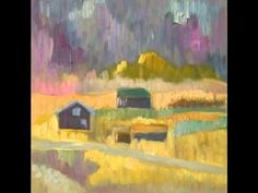 Colourful landscape, piano improvisation and painting Jussi Vaarala