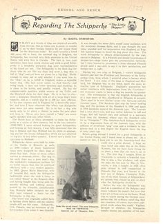 Great article from the 1930s about schipperkes. Four pages.