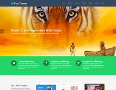 Flat Theme is the best free responsive site template ever. This clean yet elegant design template has been developed using Twitter Bootstrap 3 framework....