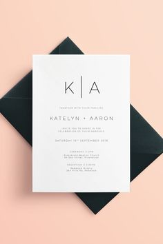 Wedding :) Modern minimalist wedding invitations Etsy wedding invites Keep Kids Safe Online: Child P Acrylic Wedding Invitations, Minimalist Wedding Invitations, Handmade Wedding Invitations, Elegant Invitations, Diy Invitations, Wedding Invitation Design, Wedding Stationery, Invitation Wording, Invitation Suite