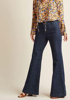 "wrangler wide-leg whim jeans - 33""   modcloth"