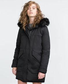 Image 2 of LONG QUILTED PARKA from Zara