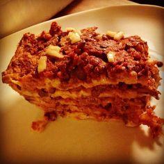 #Lasagne al #forno con #lenticchie #funghi #besciamella pomodoro #mozzarisella #repost from @eleoniko #vegan #recipe #dairyfree #senzalattosio #formaggio di #riso #integrale #germogliato #vegancheese