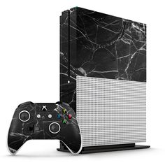 Black Hyper Marble Xbox One S Skin