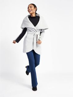 Bundled Up: How to Wear a Wrap Coat