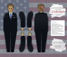 zOmBAMA doll fabric by glimmericks on Spoonflower - custom fabric Finally the perfect Christmas gift to make for all your lib friends