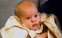 Prince Harry on his christening day.