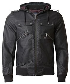 Men's Leather Look Jacket Threadbare Coat Full Zip Hooded Lined Winter GRIFFIN, Black, Medium Threadbare http://www.amazon.co.uk/dp/B00NWCYHGG/ref=cm_sw_r_pi_dp_V2zOub16SP8YY