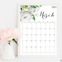 Botanical Wall Calendar 🌿🌱🍃