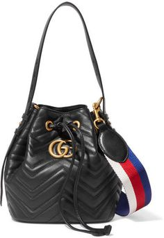 150f6091b6e08c Gucci - Gg Marmont Quilted Leather Bucket Bag - Black #gucci #ShopStyle  #MyShopStyle