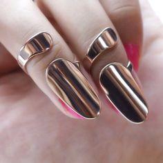 Discount Jewelry Fashion Simple Rose Gold-plated Titanium Steel Opening Nail Ring For Women - Bijoux Piercing Septum, Gold Jewelry, Fine Jewelry, Cheap Jewelry, Cz Jewellery, Garnet Jewelry, Tiffany Jewelry, Jewellery Making, Jewelry Rings
