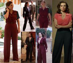 The costume vault: Agent Carter: superhero espionage. Part II Agent Carter Costume, 1940s Fashion, Vintage Fashion, Victorian Fashion, Gothic Fashion, Carters Halloween, Vintage Outfits, Costume Design, Capsule Wardrobe