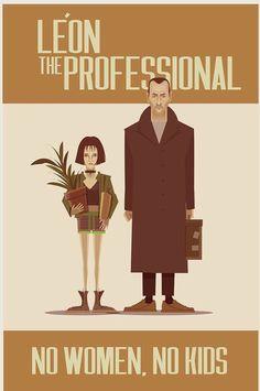 Leon Luc Besson, Jean Reno Natalie Portman, Mathilda Lando, Matilda, Film, Movie Posters, Movies, Graphics, Random