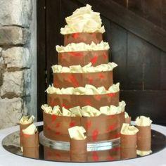 #milk #chocolate wrapped 5 tiers #weddingcake from todays delivery. #foodies #weddingday