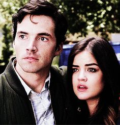 The couples last appearance in the mid-season finale #prettylittleliars #ezria