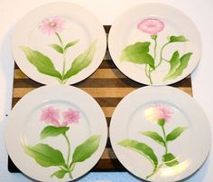 Fitz and Floyd Vintage Fleurs Matinales Plates by TTLGFurnishings