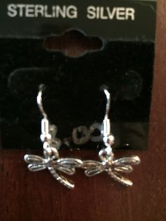 Dragonfly Charm Earrings - pinned by pin4etsy.com