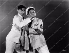 photo Clark Gable socking it to Wallace Beery Hell Divers 1910-15