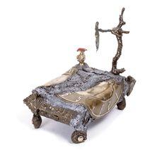 """Bedtime2 - Homage to Dali"" bronze, 10"" x 10"" x 10.5""   EXHIBITION BOOK (including bio, artwork descriptions and prices) » https://www.sugarsync.com/pf/D7771278_2178774_6972504"