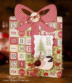 Love Brigit's creative cards from the SHAPED CHRISTMAS CARD KIT!  The adorable Chicadee & Cedar are from the SPIRITS OF CHRISTMAS PAST KIT!