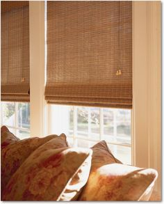 I have these Hunter Douglas blinds in my 4 season parch. They allow just the right amount of light through them.