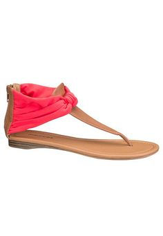 Summer Colors: julia scarf sandal in vibrant coral #maurices