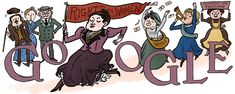 Henrietta Edwards 165th Birthday #GoogleDoodle #google Henrietta Muir Edwards was one of the Alberta Famous Five who changed the British North America Act to recognize women as persons