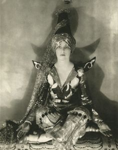 Jeanne Jacqueline Harper in a costume by William Weaver for the Persian Fête at the Plaza Hotel, 1924 (a benefit for the Big Sisters charity). Photo by Edward Steichen for Vogue. She was barely 16 here. She would later marry, becoming Mrs. Fal de...