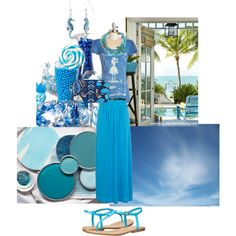 Day 5:Blue by thefrugal-fashionista on Polyvore featuring polyvore, fashion, style, Blue Platypus, River Island, MIA, Vera Bradley, Betsey Johnson, Bling Jewelry and Monday